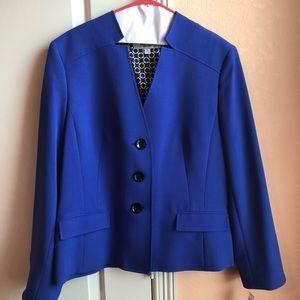 Electric blue lined blazer